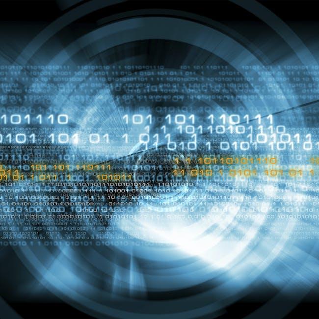 Kod binarny, ciąg liczb symbolizujące rozporoszoną architekturę sieci