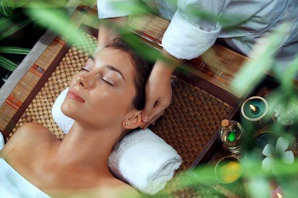 Woman receiving spa treatment - Atmosphere TV