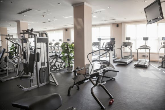 A picture containing indoor, floor, ceiling, wall and gym equipment - Atmosphere TV