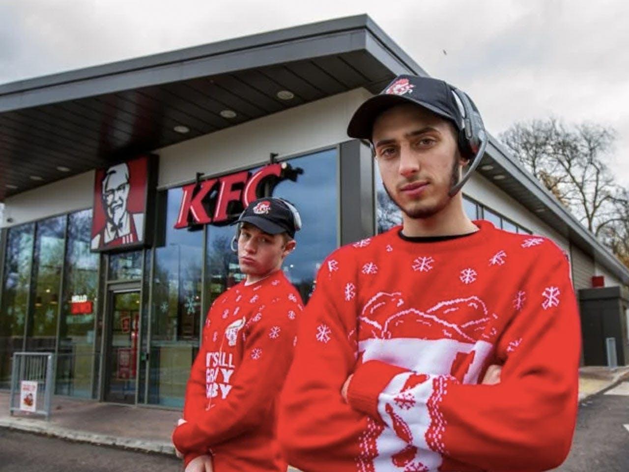Inside KFC at Christmas