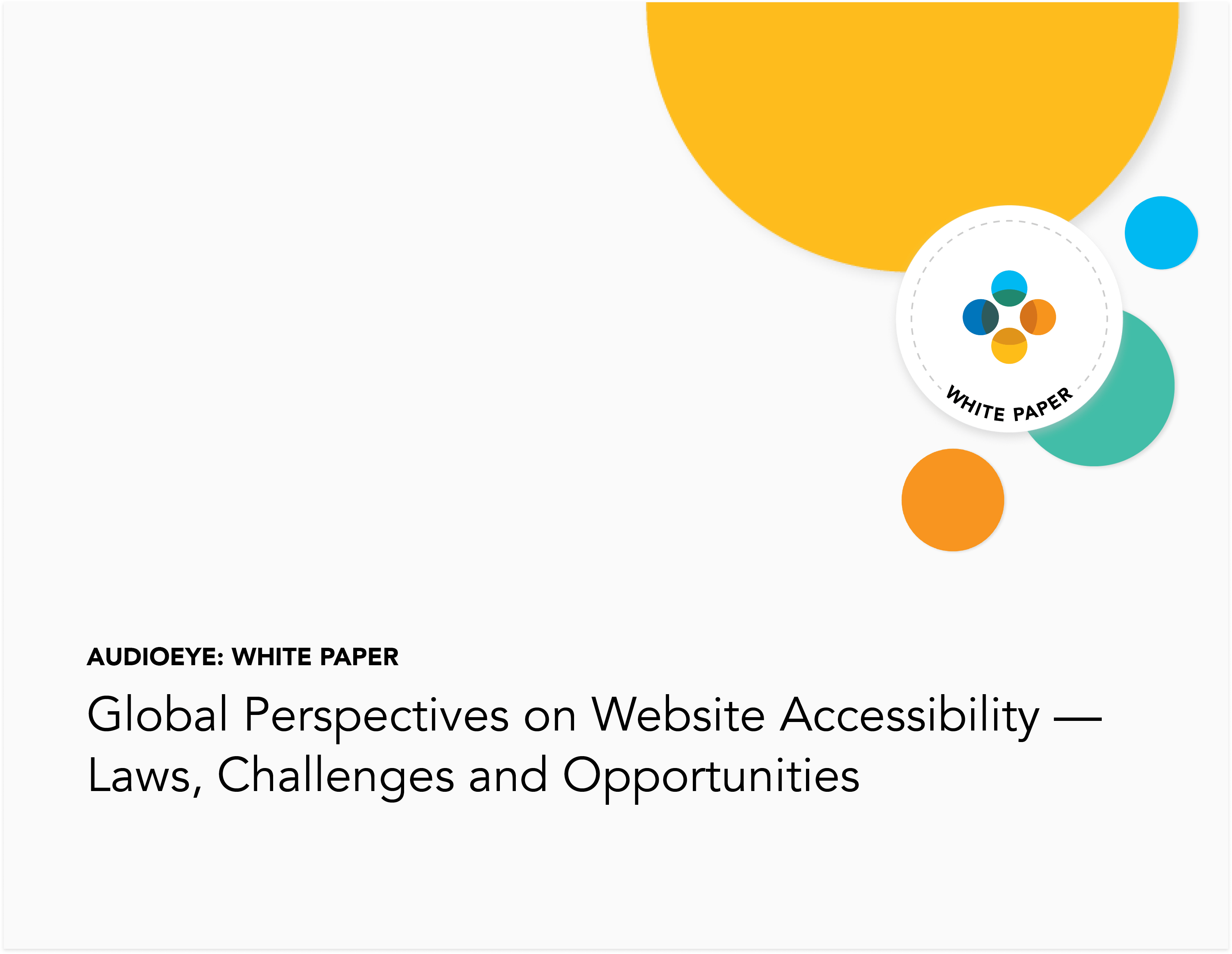Global Perspectives on Website Accessibility — Laws, Challenges and Opportunities White Paper Cover