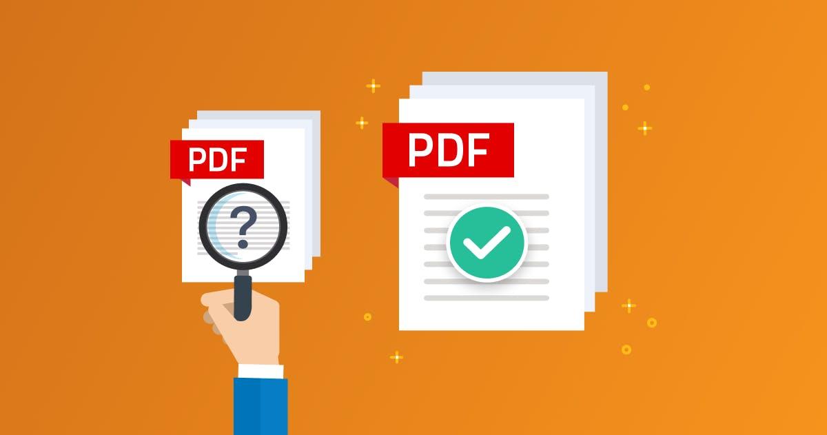 Illustration of stacks of PDF documents