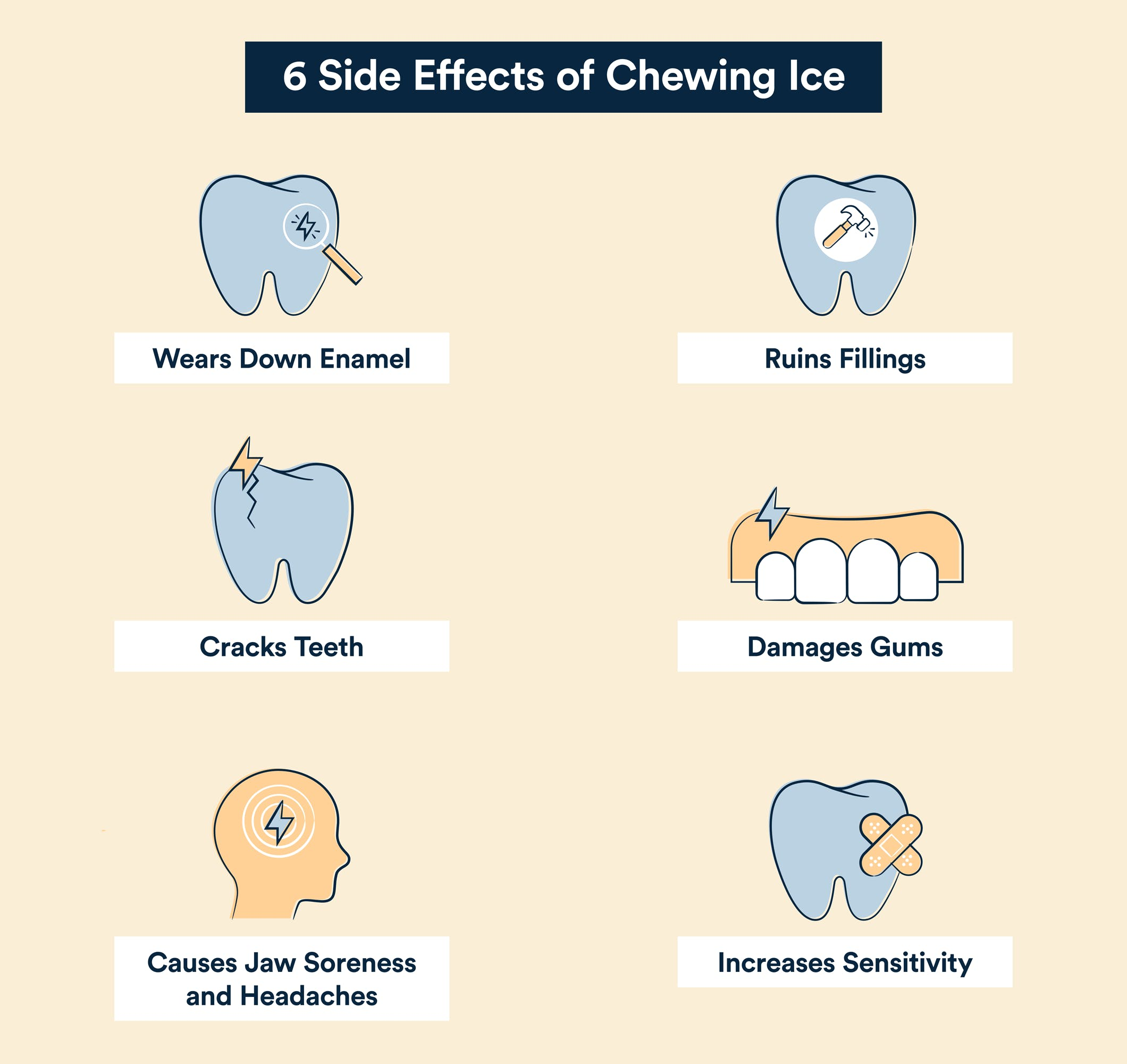 side effects of chewing ice