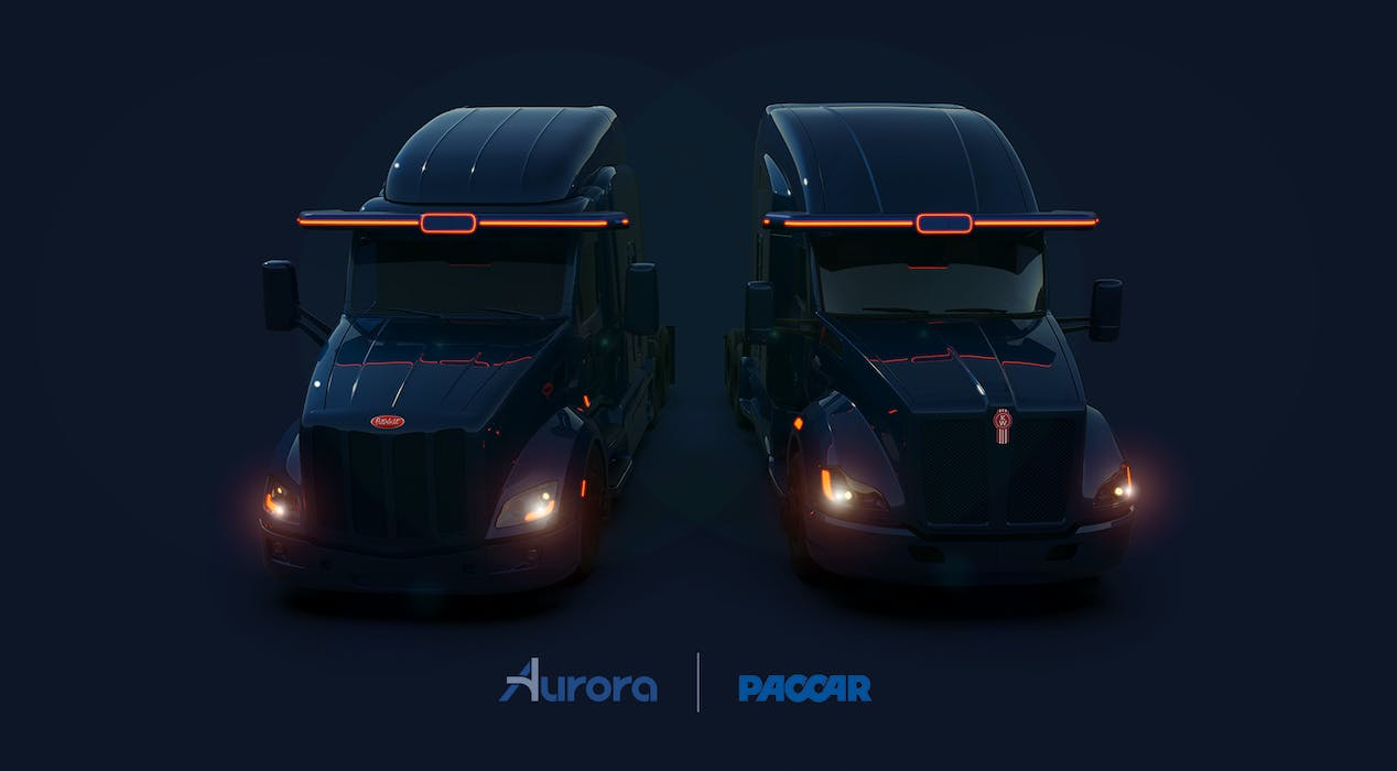 Aurora is teaming up with PACCAR to build and deploy self-driving trucks