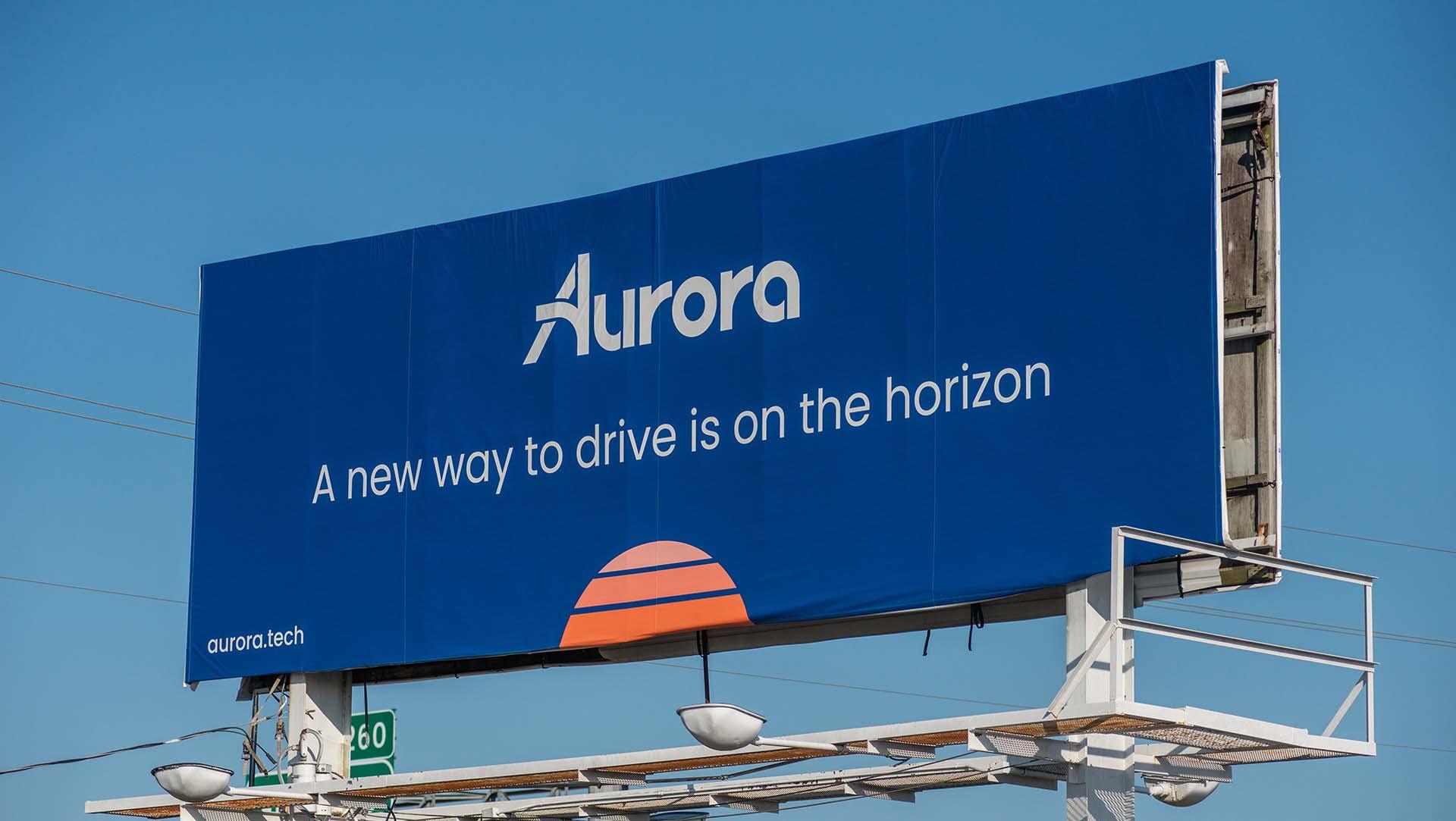 Aurora Illuminated billboard