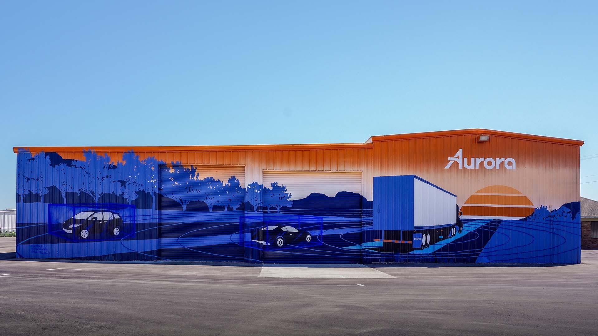 Painted mural at Aurora Illuminated