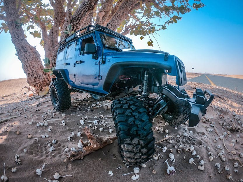 Jeep Wrangler Unlimited off-roading