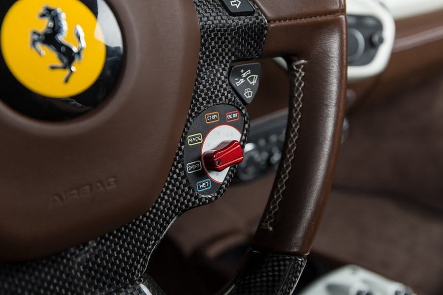 Drive modes on a 2012 Ferrari 458 Spider steering wheel