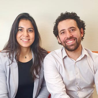 Habib Al-Khatib and Elodie Morgan