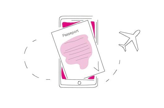 Illustration du passeport sanitaire européen