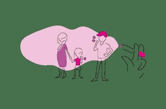 Illustration du tabagisme passif
