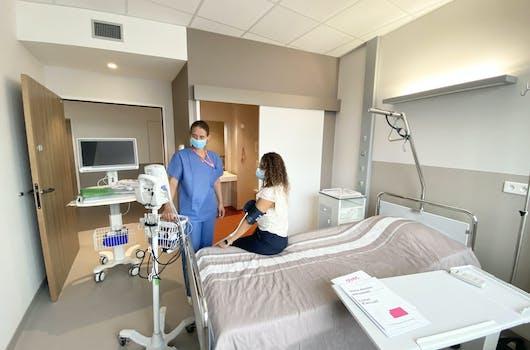 Chambre de l'Hôpital de Jour à la clinique Saint Jean l'Ermitage