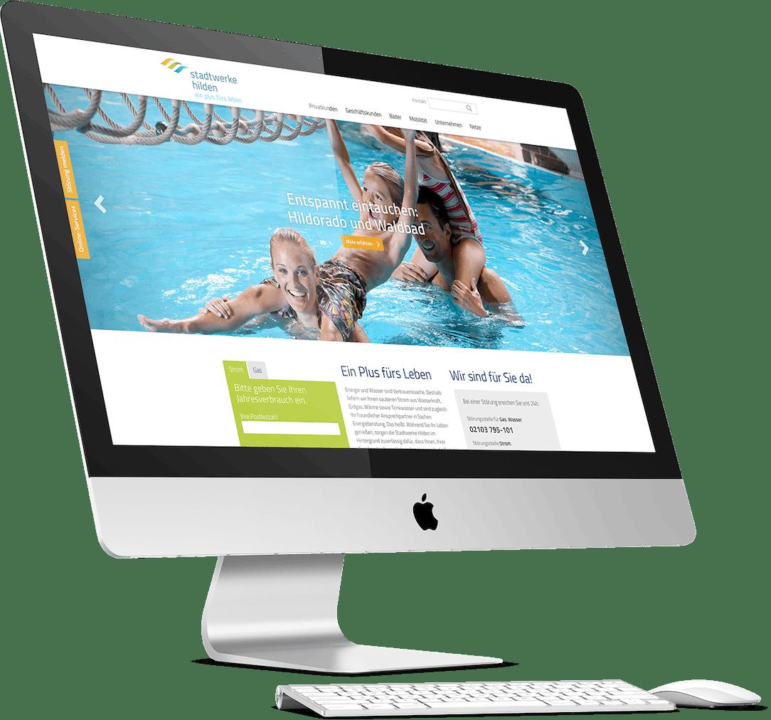 Stadtwerke Hilden Website