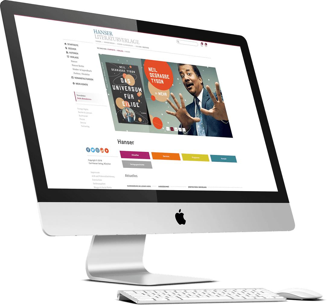 Hanser Shop Website