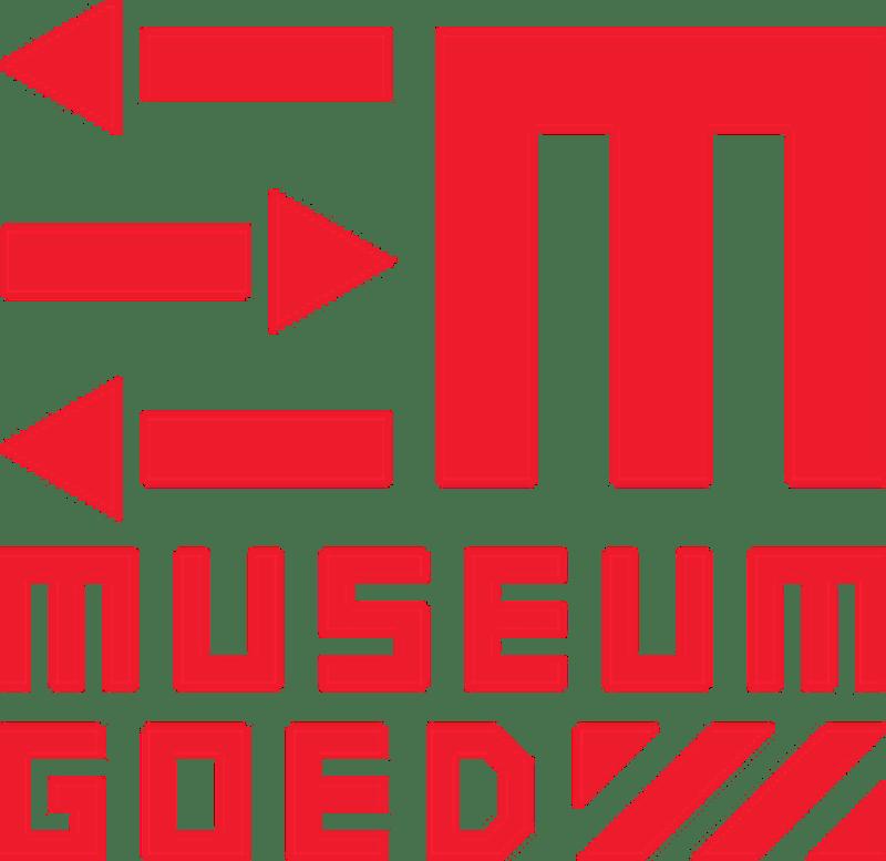 Logo MuseumGoed, platform voor museumartikelen