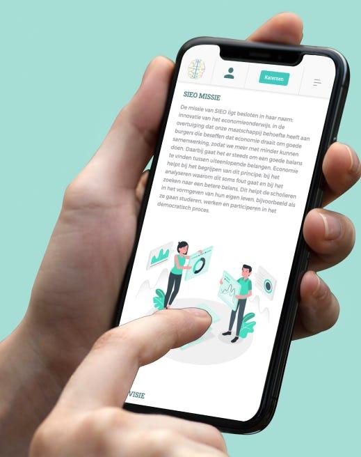 Educatie platform economie onderwijs mobiele versie