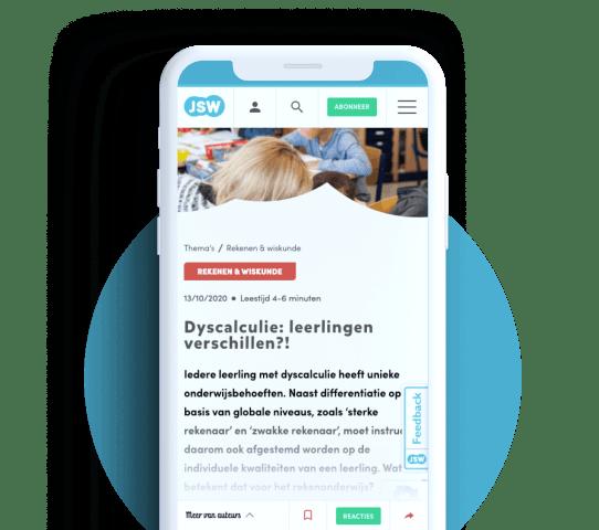 JSW website voor vakbladen in het onderwijs ThiemeMeulenhoff