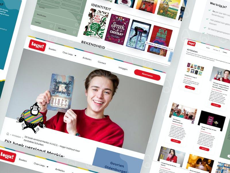 Platform Lequ voor leesplezier in onderwijs door Avocado Media