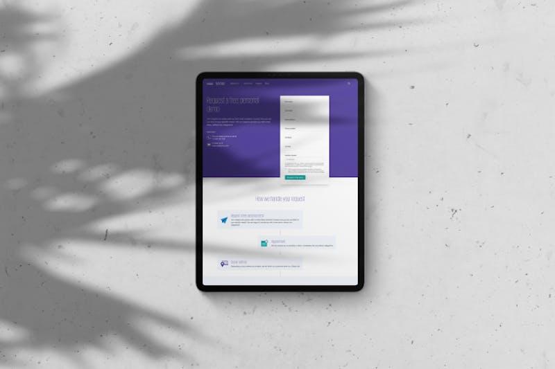 Website KPMG tablet Avocado Media