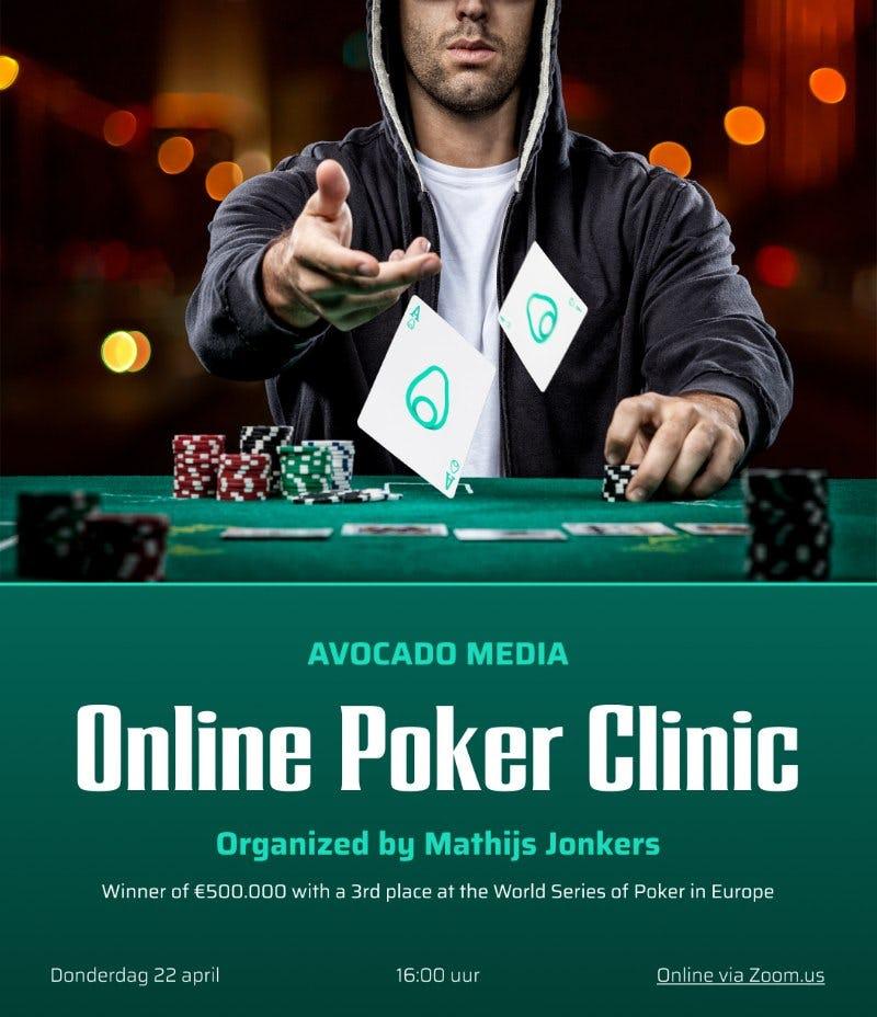 Poker clinic bedrijfsuitje Avocado Media