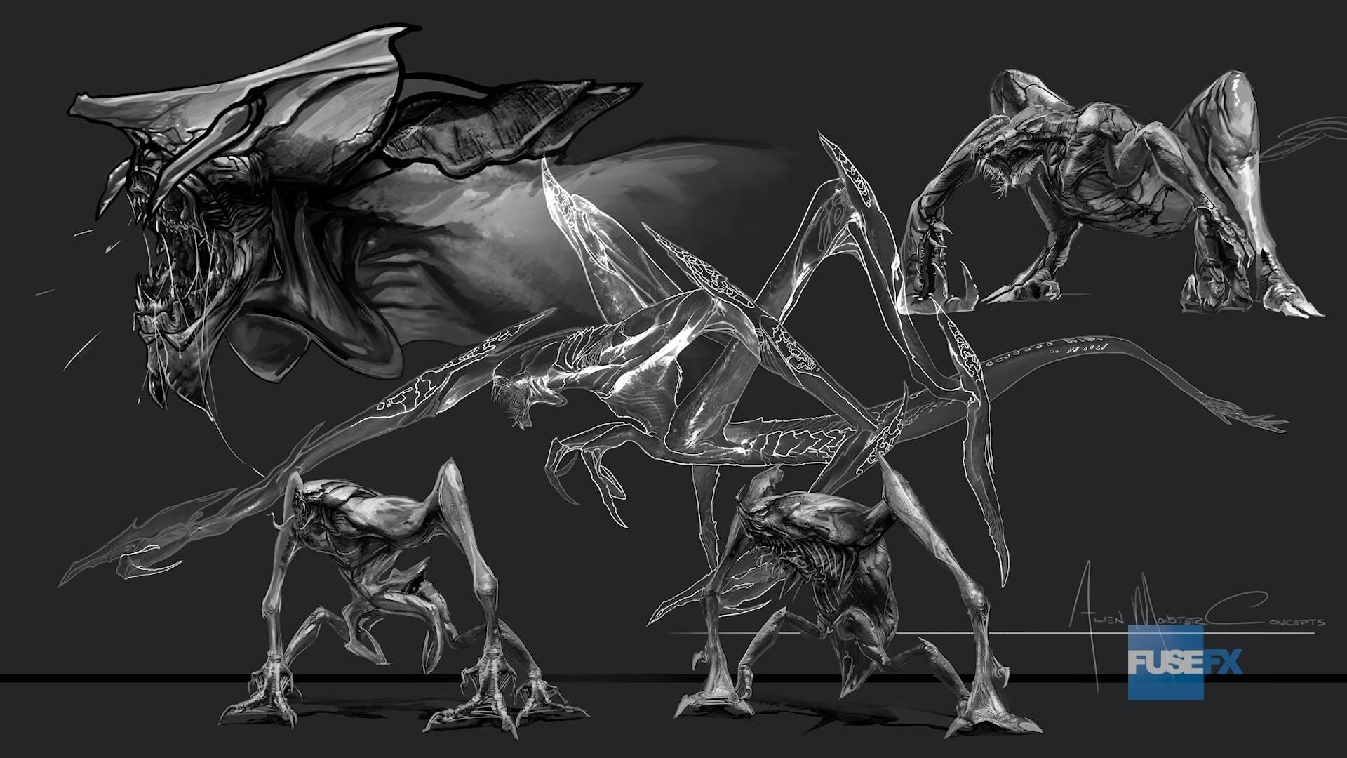 deadline fuse alien predator creature art