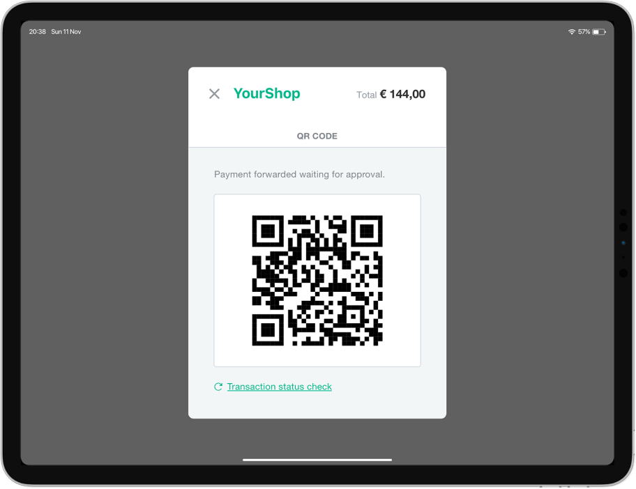 Accept payments by QR code