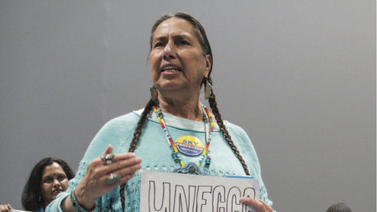 Indigenous activist COP carbon offsets article 6 UNFCCC