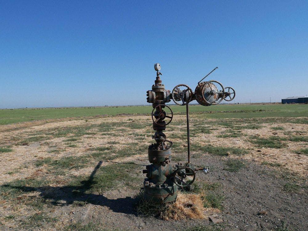gas drill field