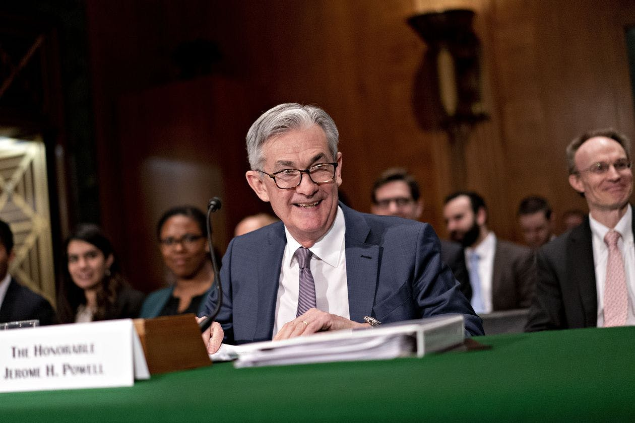 Chairman Jerome Powell at a Senate Banking Committee hearing earlier this year.