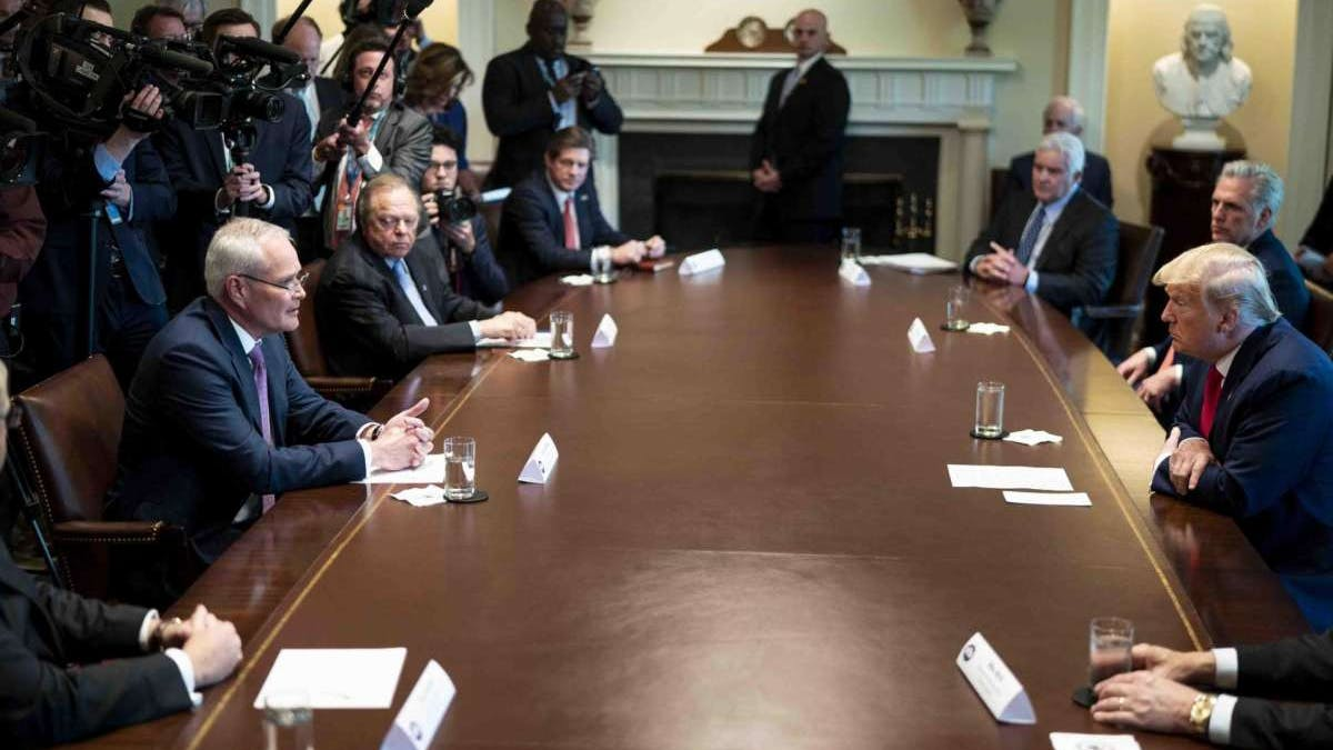 Trump meeting Exxon and oil executives
