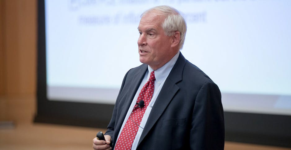 Eric Rosengren, president of the Federal Reserve Bank of Boston, was pressed by lawmakers Friday about whether provisions within the pandemic economic stimulus package encourage fossil fuel development.