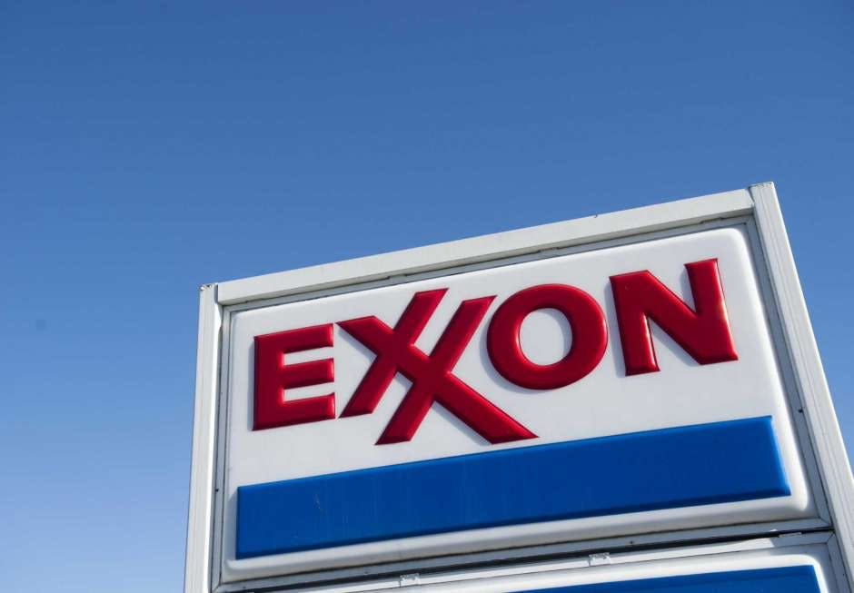 An Exxon gas station is seen in Woodbridge, Virginia