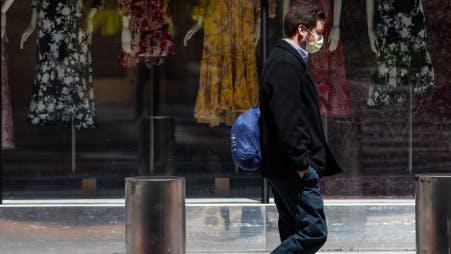 Man walking with mask