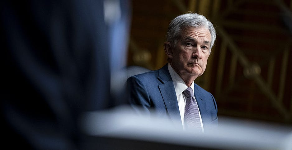 Jerome Powell, chair of the Federal Reserve, on Capitol Hill last month. The central bank created its first-ever committee yesterday to study the effects of climate change on the financial system. CNP/AdMedia/Sipa/Newscom