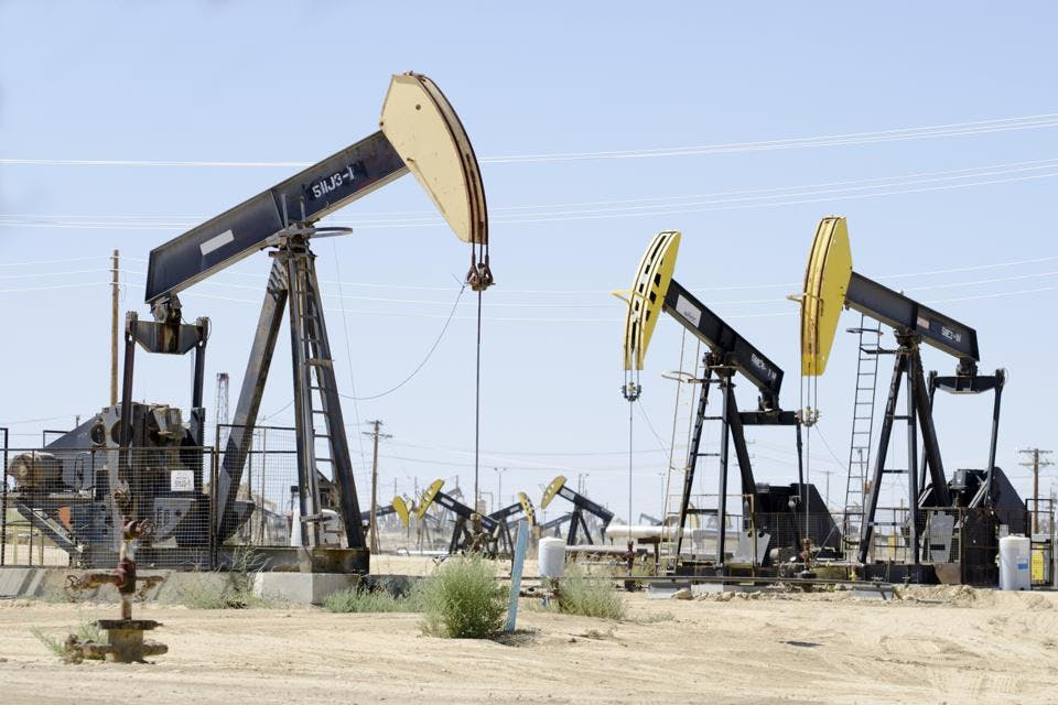 Kern County, California has thousands of 'mature' oil wells.
