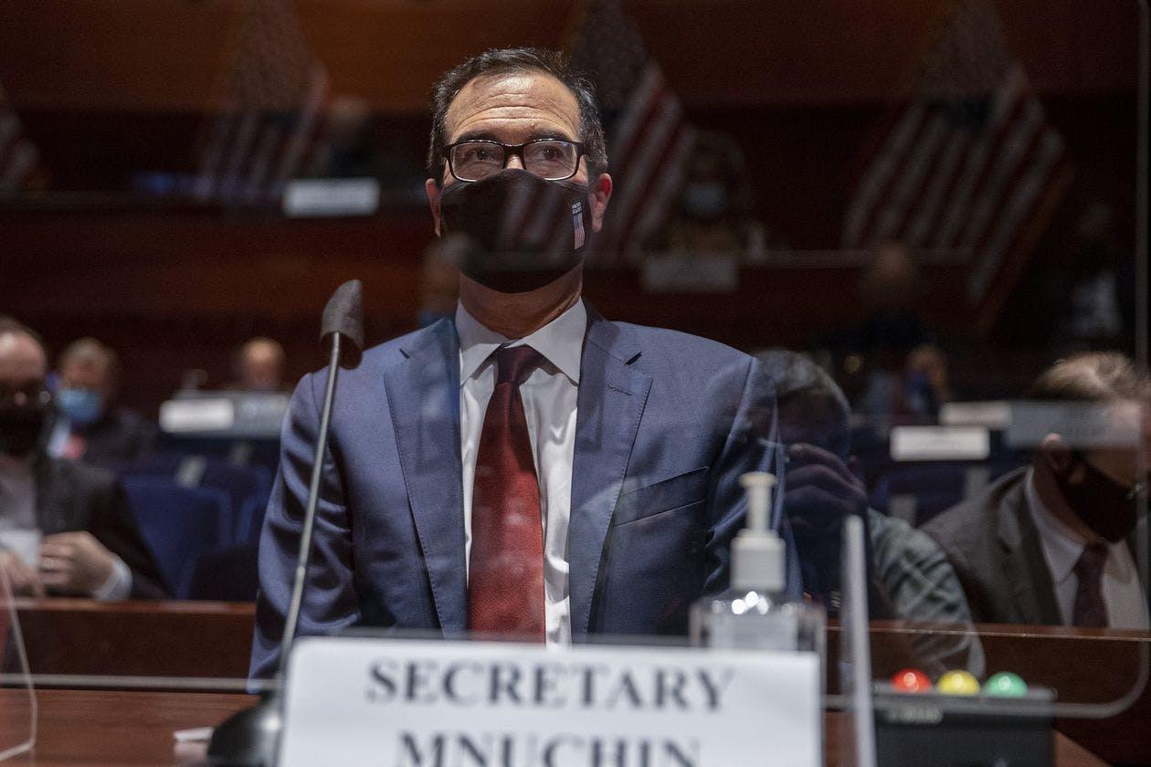 Steven Mnuchin testified to Congress in June on the Treasury Department's response to the coronavirus pandemic.