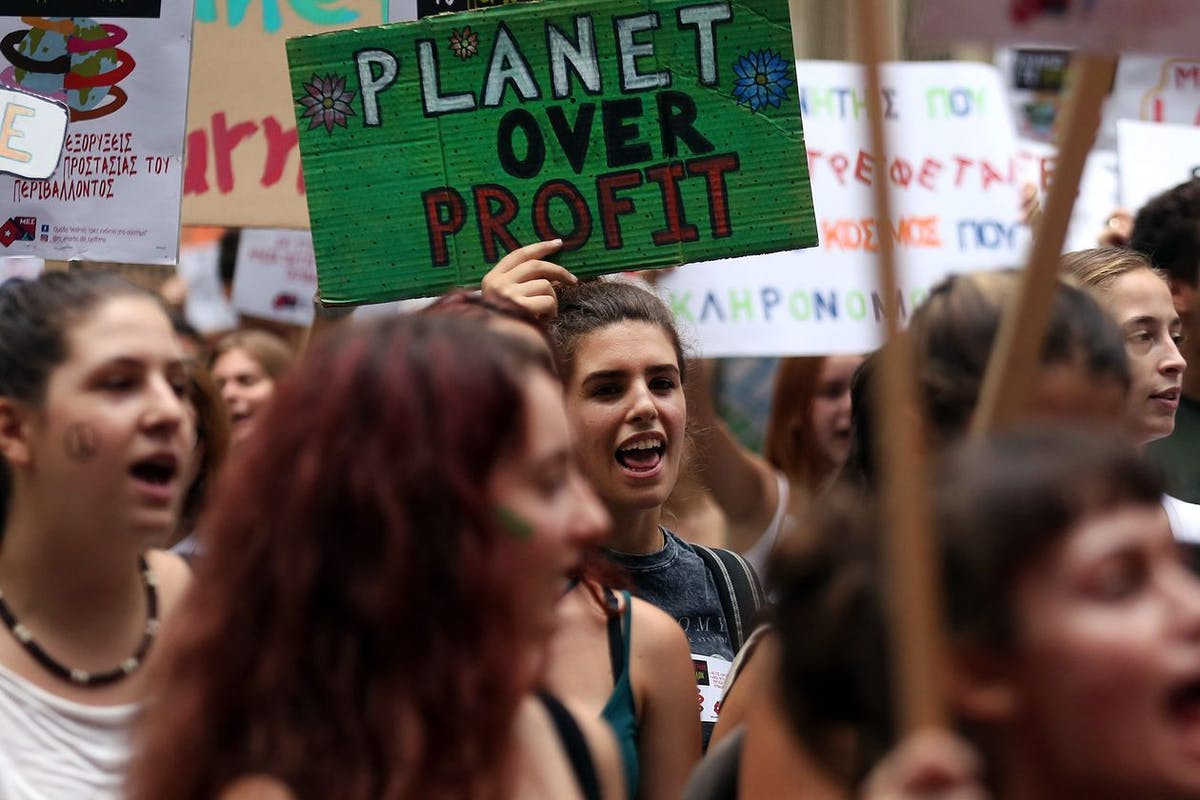 Climate protesters planet over profit