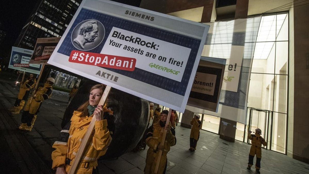 Greenpeace protest BlackRock