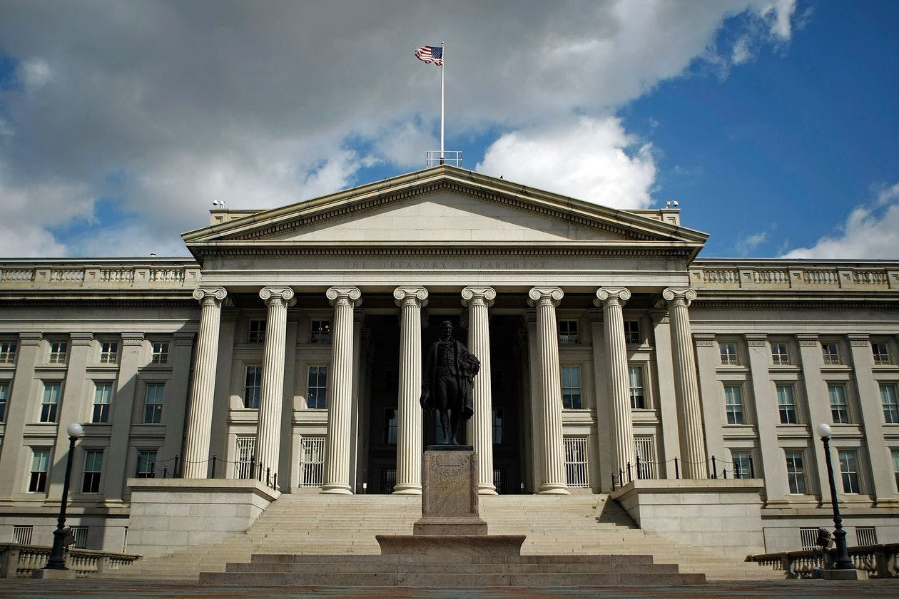 The Treasury sold a record $2.2 trillion of bills in April, and since March it has sold $7.6 trillion of short-term securities.