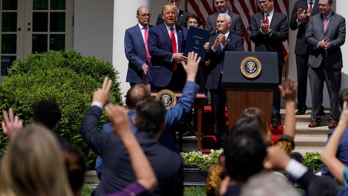 President Trump signed the Paycheck Protection Program Flexibility Act in the early days of the pandemic.
