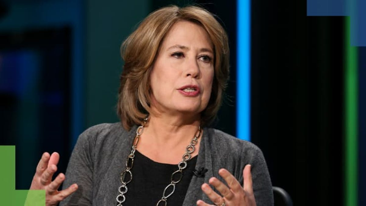 Sheila Bair talking with both her mouth and her hands