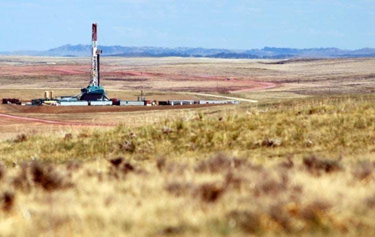 oil rig field Wyoming