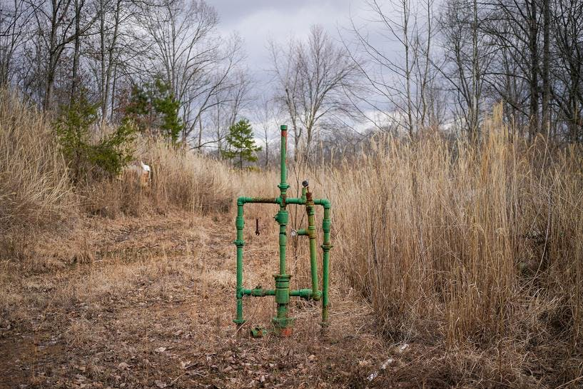 Abandoned natural gas well