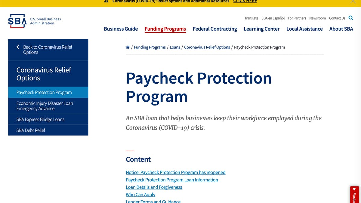 Small Business Administration Paycheck Protection Program