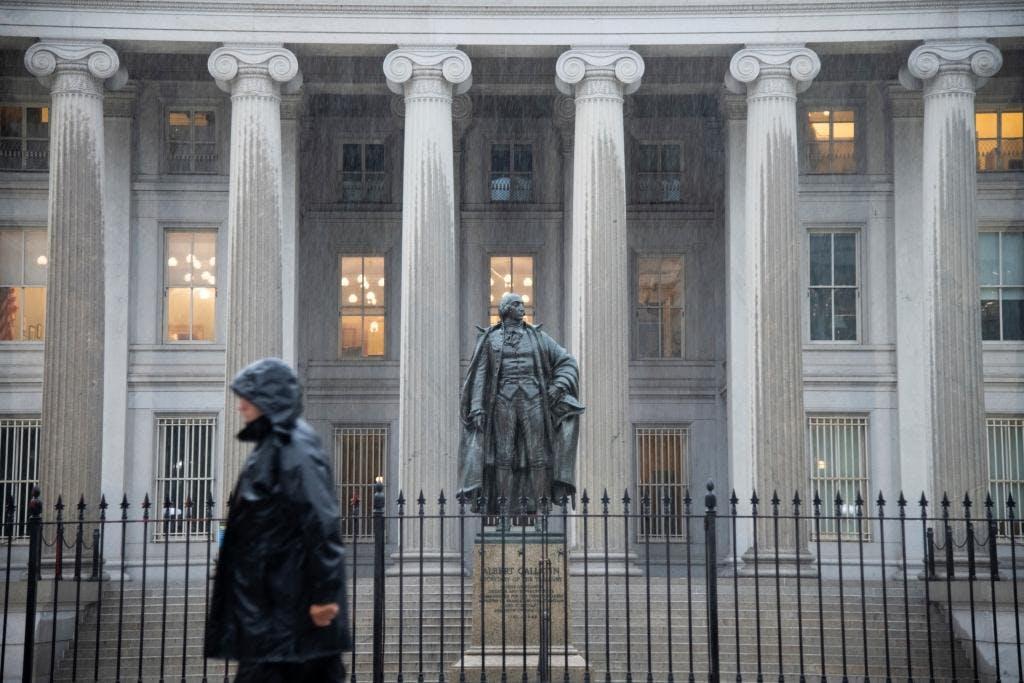 The U.S. Treasury Department headquarters