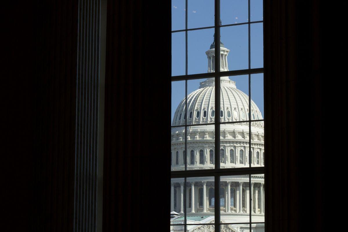 Capitol Hill through window