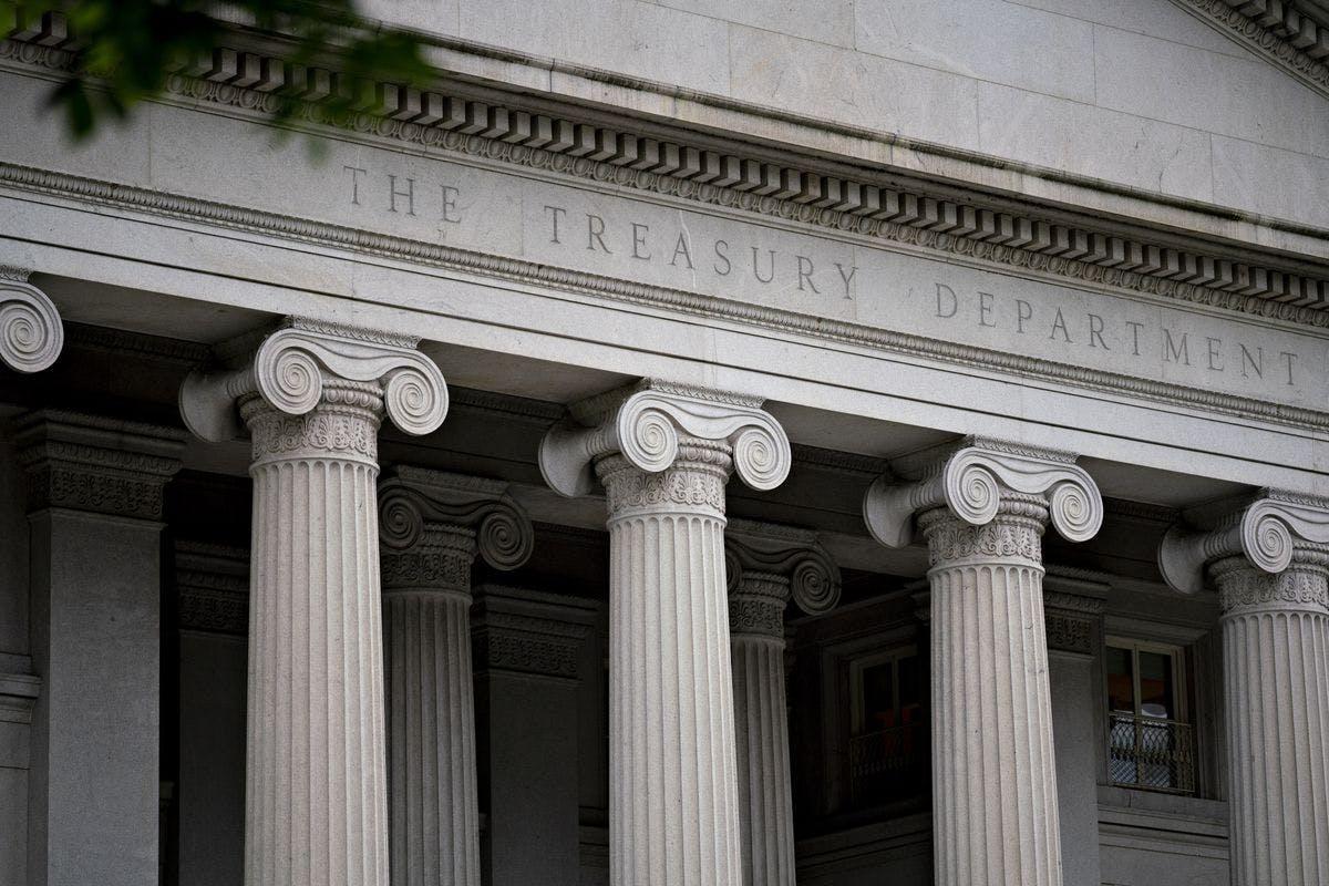 The U.S. Treasury Department building