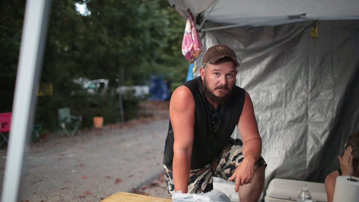 Blackjewel miners blocked a railroad leading to a mine in Cumberland, Kentucky, in 2019.