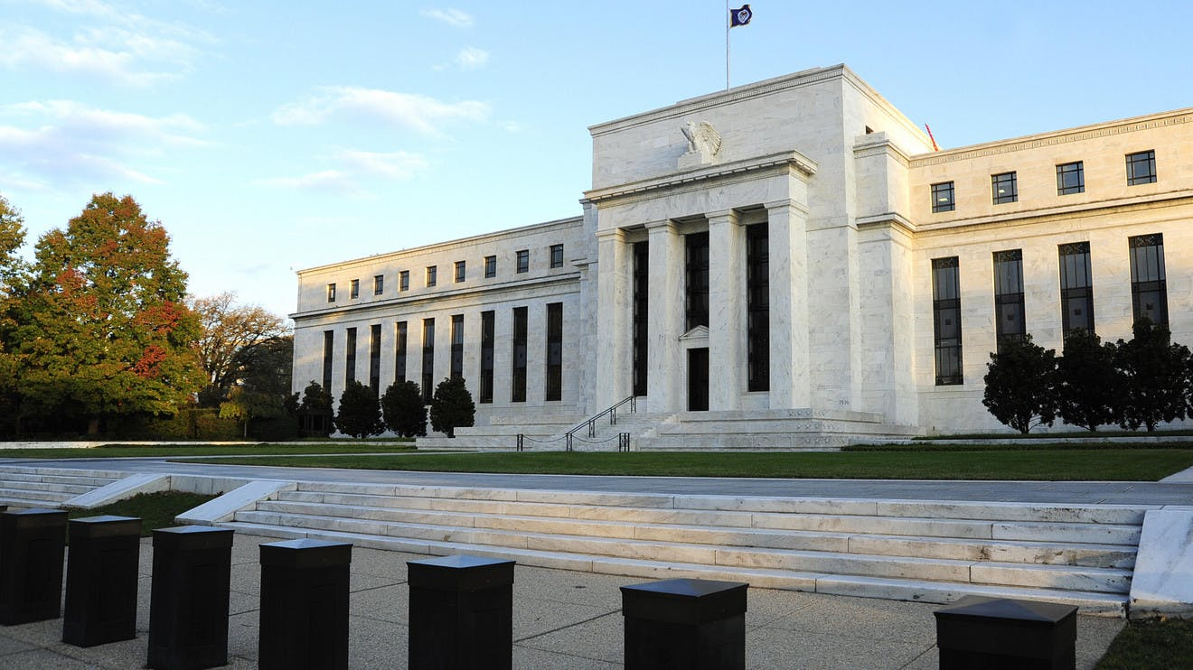 The Federal Reserve building.