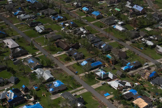Hurricane damage Louisiana